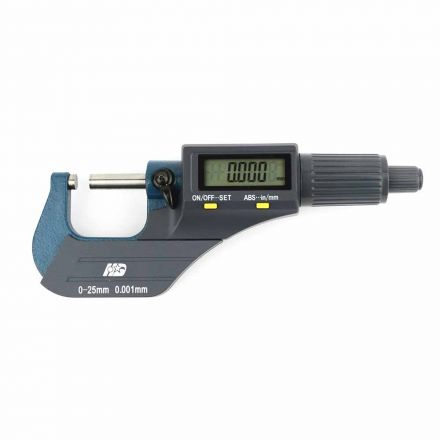 Big Horn 19204 Digital Electronic Outside Micrometer 0-1 Inch Large LCD