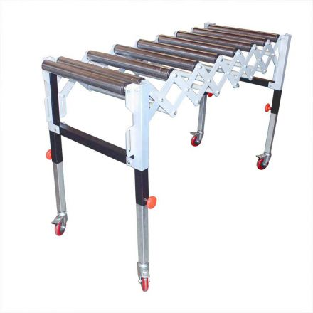 Big Horn T1732 Adjustable Expandable Gravity Wheel 9 Roller Conveyor Flexible Table