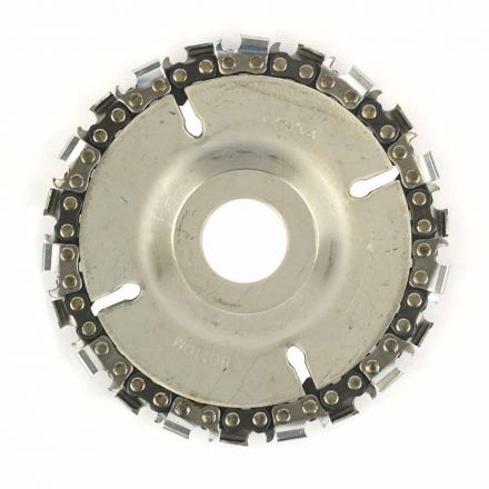 "Superior Steel SS478 EZ Install 22 Tooth 4""  Fine Cut Grinder Disc and Chain - 7/8"" Arbor"